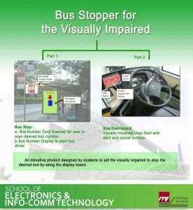 Bus Stopper for the Visually Impaired Project Poster.  Image: ITE College Central