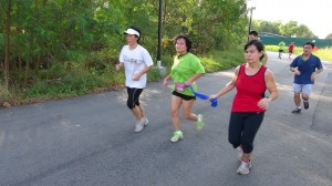 Through running, Wan is able to improve her fitness and connect with other fellow runners.